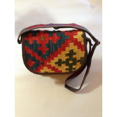 Kilim Shoulder Bag - Handmade Persian Kilim Wool Woven Shoulder Bag